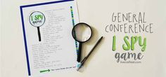 """lds general conference """"i spy"""" game for kids :: free printable!"""