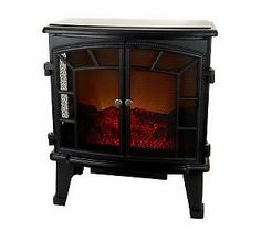 $153.96 on QVC. Duraflame Large Electric Stove Heater with Screen Front