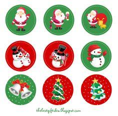 Free Printable: Santa Claus Reindeer Cupcake Topper   Free Download Cute Printables Template