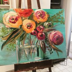 One I just finished. Flower Painting Canvas, Canvas Art, Floral Paintings, Rose Art, Arte Floral, Autumn Art, Abstract Flowers, Texture Painting, Acrylic Art