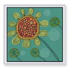 Natural Flower Art 16x16