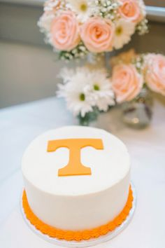 TENNESSEE VOLS POWER T WEDDING CAKE!!  My husband's groom cake!! The checkerboard turned out so amazing looking and tasting, it was perfect! Cake by Gigi's Cupcakes in Savannah GA, photo by Rach Loves Troy in Savannah GA