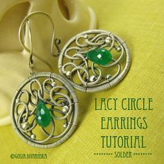 "Hi there :)  My tutorial avaliable on etsy -store ""tutorials""  Here is my third tutorial, which shows step-by- step how to create wire-wrapped earring bases, filled with lacy ornaments. This pattern is representative of my designs.  This tutorial requires you to have some soldering skills, but will demonstrate steps for soldering the frame and balling up wire ends.   You will find here 51 steps, illustrated with 83 pictures addressed to ADVANCED designers. However, I also encourage…"