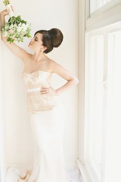 Obsessed with this wedding sock bun from The Beauty Case | Seven Silver Swans Photography