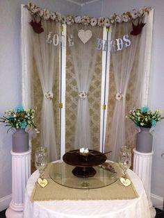 WoodysRustic Buffet Table Arrangement Ringgold Wedding Suite