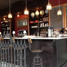 """Discovered by Abi Brothers, """"This is the cutest coffee shop in town, in my humble opinion. It's also a beer and wine bar aw well. With a 20's European vibe, it should stick around for a long while."""" at Thirsty Scholar, Indianapolis, Indiana"""