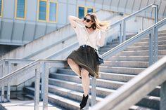 Für etwas Glamour im Alltag: Das Outfit mit Tüllrock findet ihr heute im Fashion…