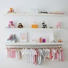 Cute clothes rack idea