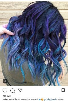 From pulp riot hair color ( Cute Hair Colors, Pretty Hair Color, Beautiful Hair Color, Hair Dye Colors, Purple Hair, Ombre Hair, Purple Ombre, Ombre Colour, Color Blue