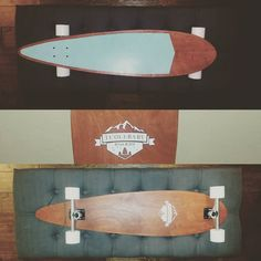 """Texas just got a whole lot cooler with this """"classic pintail"""" on its way. #cantbeatourprices #linkinbio #handmade #longboard #madeinoklahoma #tcolebabyboards #seafoamgreen #tiffanyblue by tcolebabyboards"""
