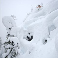 Pillow poppin' with Arc'Athlete Austin Ross in Whistler BC.  The snow has started to fall again!