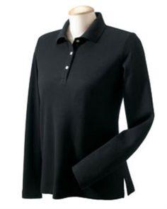Devon & Jones Women`s Pima Pique Long Sleeve Polo Shirt D110W $18.22