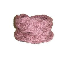 Triple Cable Cowl in Old Rose Pink Pink Hand by naryaboutique, $40.00