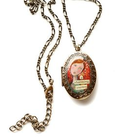 Take a look at this Gold Charming Journey Locket by Kelly Rae Roberts on #zulily today!