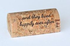 Wedding Custom and Personalized Wine Cork Place Card Holders - CorkeyCreations.com