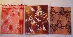 Blockheads Paper Arts: Faux Batik by Karen McAlpine