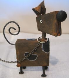 23 Clever DIY Christmas Decoration Ideas By Crafty Panda Welding Art, Welding Projects, Wood Projects, Metal Welding, Wooden Art, Wooden Crafts, Wood Animal, Wood Dog, Block Craft