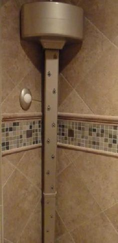 Tornado Body Dryer: Dry your entire body without a towel, while still in your warm shower enclosure!