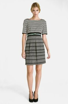 Tahari Stripe Fit & Flare Dress available at #Nordstrom