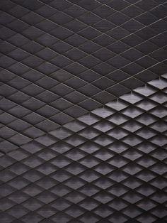 Wellington Tile, Veneered Timber Our laser-cut adaption of the diamond Wellington tile  Black