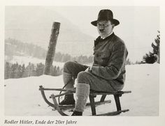 """madchenfurwolf: """" Posing on a sled … carrying a whip. """" Eva took this photo. Look at his rakish expression. Priceless."""
