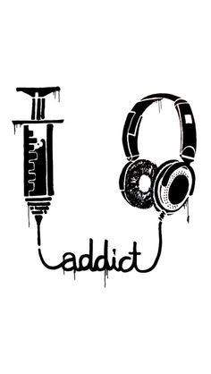 My addiction is not drugs. My addiction is music Iphone 5s, Best Iphone, Musik Wallpaper, Emo Wallpaper, Wallpaper Space, Instruments, All About Music, Music Tattoos, Music Is Life