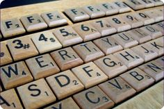 Scrabble keyboard !  love this!