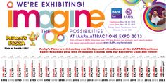 IAAPA Attractions Expo Timeline - it's our 23rd year in attendance!