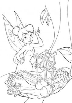 Tinker Bell Finds Something Coloring Page