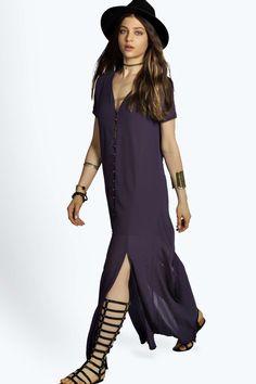 Natalya Chiffon Button Through Sliced Maxi Dress alternative image