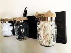 Barattolo di vetro organizzatore Mason Jar di KrohnDesigns su Etsy
