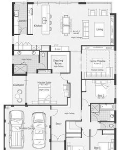 It's Floor Plan Friday! And today I have this one on my blog. Jump over and check it out. See what I think. Link in profile☝️️#floorplan #4bedroom #ezone #alfresco