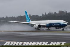 The Boeing landing at Boeing Field to complete its first ever flight. - Photo taken at Seattle - Boeing Field / King County International (BFI / KBFI) in Washington, USA on January Boeing Planes, Boeing 777, Private Jet, Aviation, Aircraft, Vehicles, Luxury Mansions, Yoga Photography, Planes