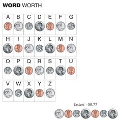How much are your spelling words worth? Kids decode their spelling list by using their coin counting skills to find out! I saw this priceless idea over at 4th Grade Frolicks and Jeffrey's Grove First Grade.