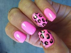 cheetah nails i did