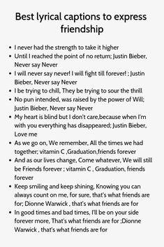 Best lyrical captions to express friendship - Trend Ideas Instagram Caption Lyrics, Attitude Caption For Instagram, Witty Instagram Captions, Ig Captions, Cool Captions, Instagram Quotes, Instagram Funny, Instagram Ideas, Instagram Story