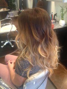 dark roots, blonde hair