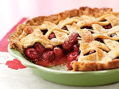 Fresh Cherry Pie   Some slices of pie can chalk up more than 700 calories and 25 grams of fat, but everyone enjoys splurging in a slice every once in a while. Our pie recipes are every bit as flavorful as full-fat, high-calorie varieties, but we've found creative, delicious ways to cut grams of fat and calories without losing a single ounce of flavor.