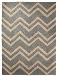 Threshold Hooked Chevron Area Rug, Blue - contemporary - rugs - by Target