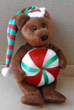 Beanie Baby Bears, Ty Beanie Boos, Beanie Babies, Christmas Baby, Christmas Stuff, Ty Bears, Big Eyes, Plush, Pusheen