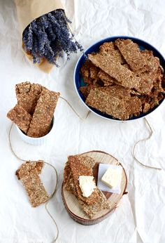 """Easy thin and crispy Swedish multi-seed crispbreads """"knäckebröd"""", to serve with butter, cheese, or any savory spread. They are my favorite ones!"""