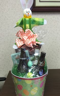 Grown up Easter basket with hoppy & carrot beer