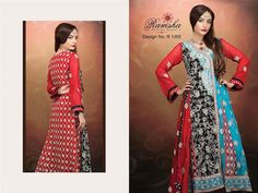 Ramsha Zari Fashion Party Wear Dresses 2015 for Wome (2)