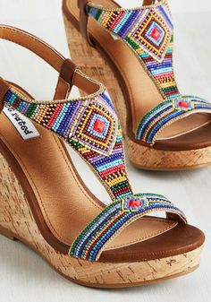 Spread the love Insanely Cute Summer Colorful Sandals from 54 of the Insanely Cute Summer Colorful Sandals collection is the most trending shoes fashion this season. This Summer Colorful Sandals… Cork Sandals, Beaded Sandals, Beaded Shoes, Pretty Shoes, Cute Shoes, Women's Shoes, Shoe Boots, Shoes Sneakers, Shoes Style