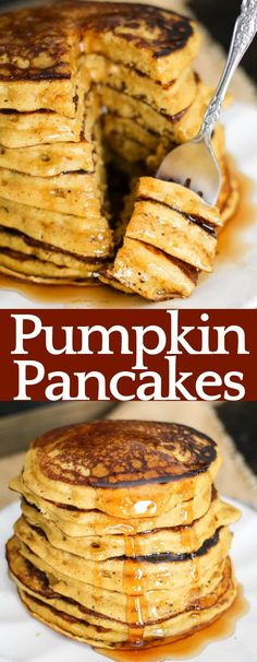 Make these all the time- THE BEST RECIPE!!! Pumpkin Pancakes are a fall breakfast staple! Adding Greek yogurt lightens them up, adds protein, and keeps the pancakes delicious and moist! Brunch Recipes, Breakfast Recipes, Greek Yogurt Pancakes, Greek Yogurt Breakfast, Fall Breakfast, Pumpkin Breakfast, Breakfast Pancakes, Good Food, Yummy Food