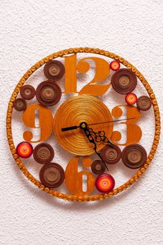 Unique Wall Clock Anniversary Gift Eco Home by QuilledWonderland