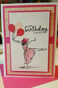 beautiful you stampin up card ideas Making Greeting Cards, Greeting Cards Handmade, Handmade Birthday Cards, Happy Birthday Cards, Kirigami, Stampin Up Karten, Scrapbook Cards, Scrapbooking, Stamping Up Cards