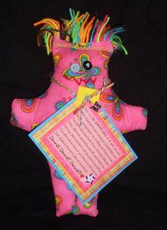 Rainbow Butterfly Dammit Doll - Laurie's DDoLLs