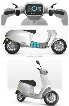 8 Electric Scooters for Adults That Are Street Legal Nanalyze - Electric Scooters - Ideas of Electric Scooters Electric Moped Scooter, Scooter Bike, Vespa Scooters, Electric Bicycle, Scooter Design, Motorbike Design, E Electric, Electric Motor, Concept Motorcycles