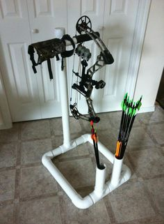 My made-at-home bow stand